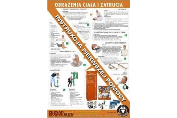 Instrukcja udzielania pierwszej pomocy-Obrażenia ciała i zatrucia