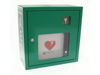 Szafka na AED metalowa na kluczyk - zielona