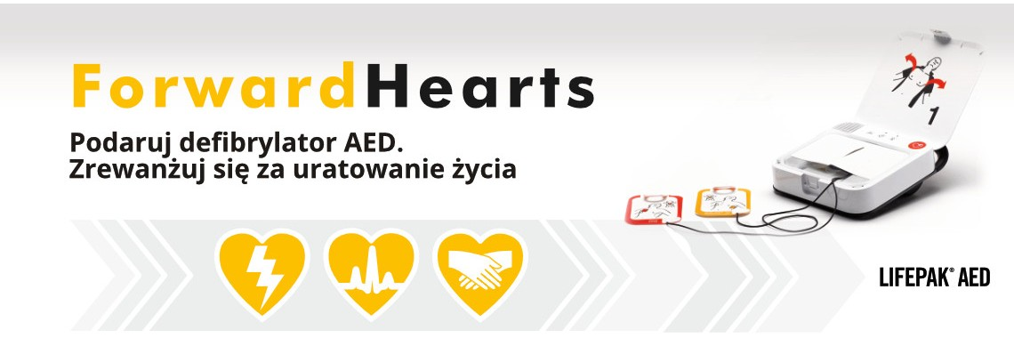 Forward Hearts. Podaruj defibrylator AED
