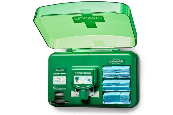 Dozownik z plastrami wykrywalnymi Cederroth Wound Care Dispenser Blue