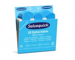 Plastry niebieskie wykrywalne Salvequick Cederroth