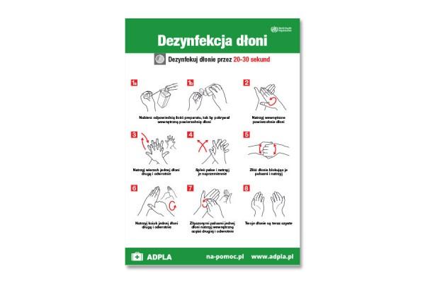 Instrukcja dezynfekcji rąk