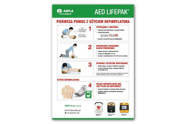 Instrukcja udzielania pierwszej pomocy AED - PCV A4