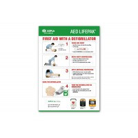 First aid with a defibrillator instructions - PCV A4