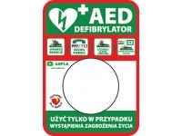 Tablica informacyjna AED pod kapsułę Rotaid zewnętrzna