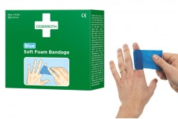 Bandaż piankowy Cederroth Soft Foam Bandage Blue 4,5 m