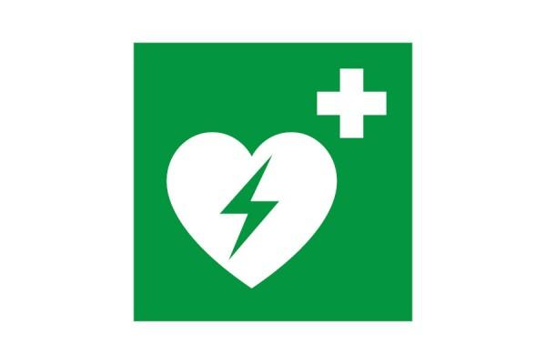 Znak AED defibrylator