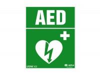 Znak AED LIFEPAK