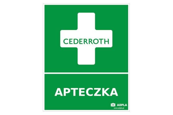 Znak apteczka pierwszej pomocy Cederroth