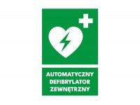 Znak AED automatyczny defibrylator zewnętrzny