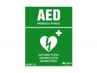 Znak automatyczny defibrylator zewnętrzny