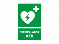 Znak defibrylator AED