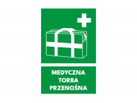 Znak medyczna torba przenośna
