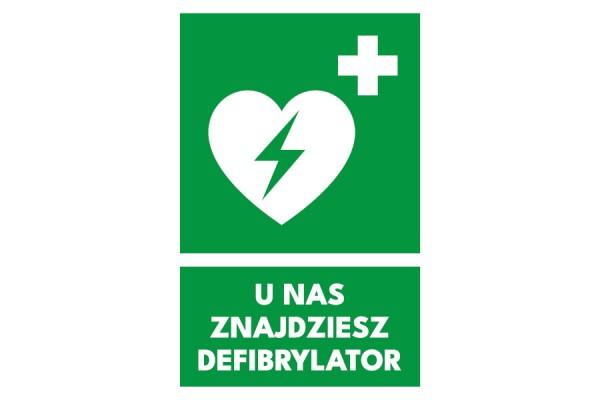 Znak AED u nas znajdziesz defibrylator