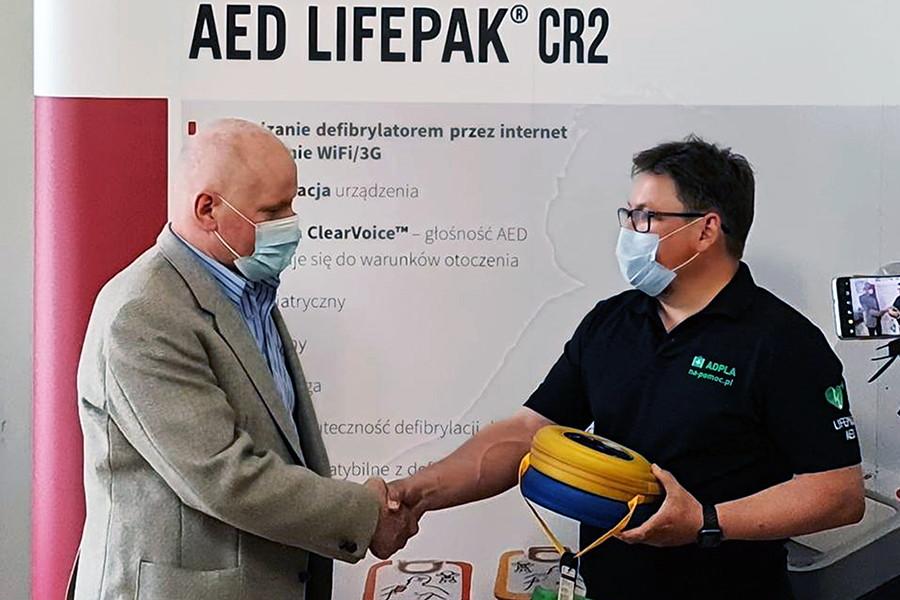 Defibrylator AED LIFEPAK ratuje życie w Złotoryi